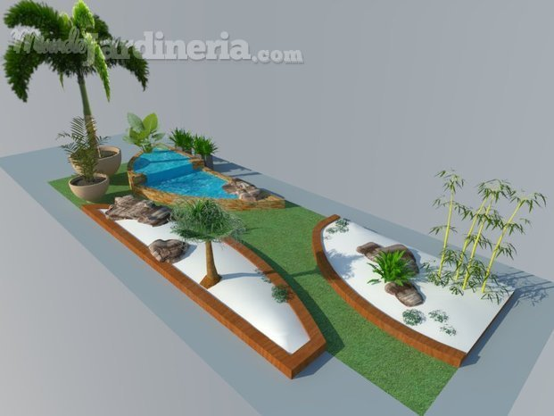 Diseño 3D patio intetior