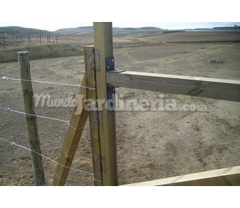 Vallas y cercados de madera tratada - Cercados y vallas ...