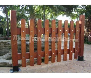 Vallas de madera de jard n - Vallas de pvc para jardin ...
