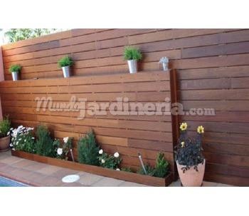 Maderas para jard n zaragoza for Cerramientos para jardines